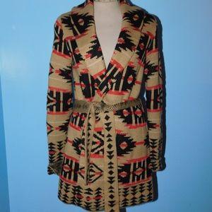 Jones New York Southwestern Sweater Coat